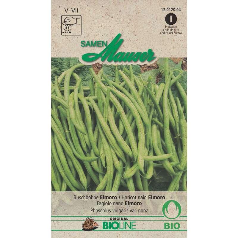 Maxi Bio-Saatgut Buschbohnen Bio-Buschbohne grün